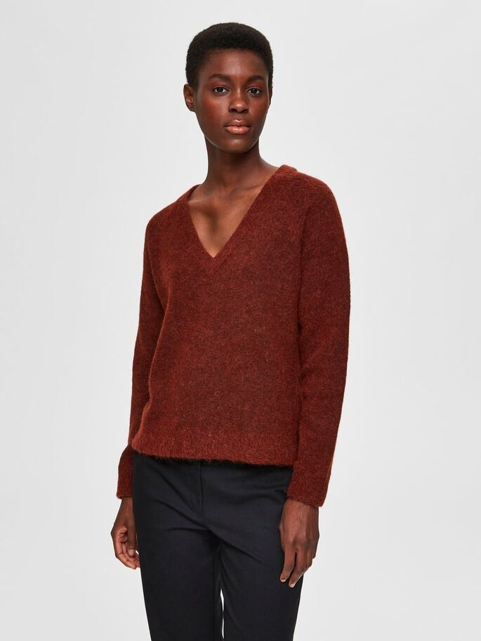 Lulu Ls Knit V-Neck