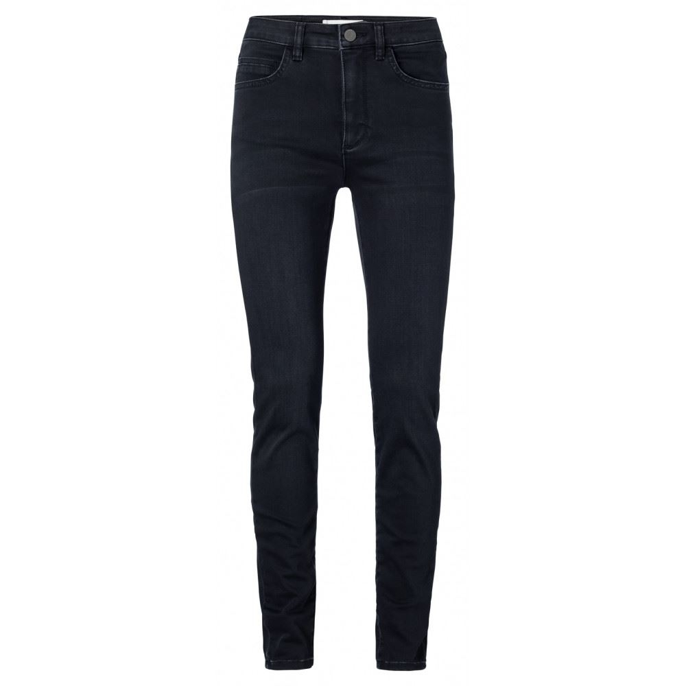 Cotton blend high waist skinny jeans