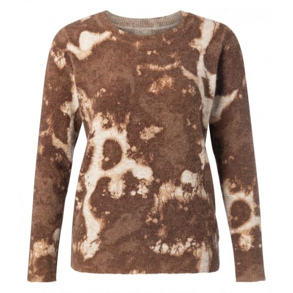 Alpaca Round Neck sweater with insideout print