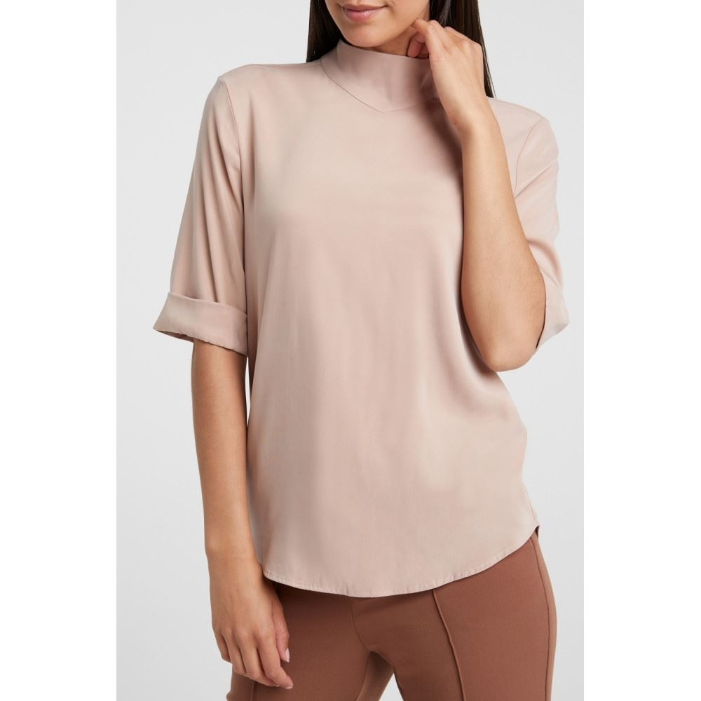 cupro blend highneck Top