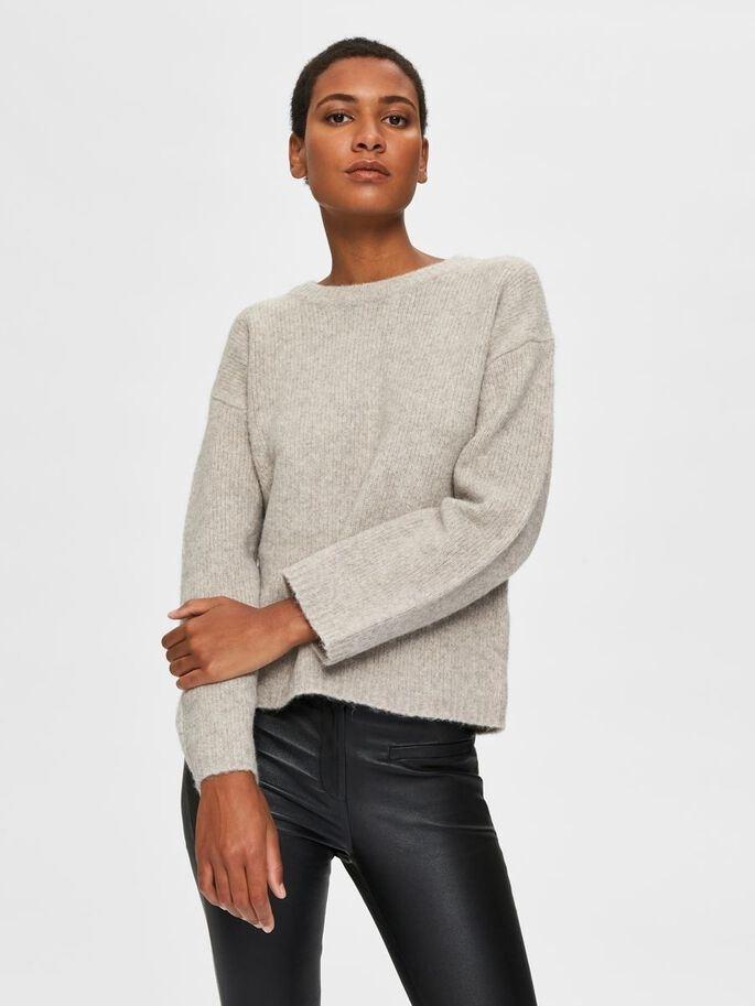 Ella Yak Mix LS Knit