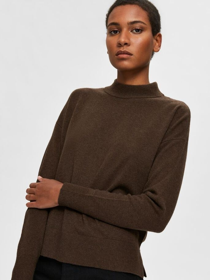 Yasmin Yak LS Knit High Neck
