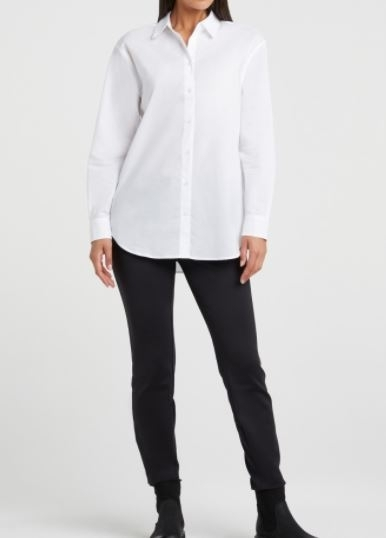 Classic Poplin Shirt With Oversized Boyfriend Fit