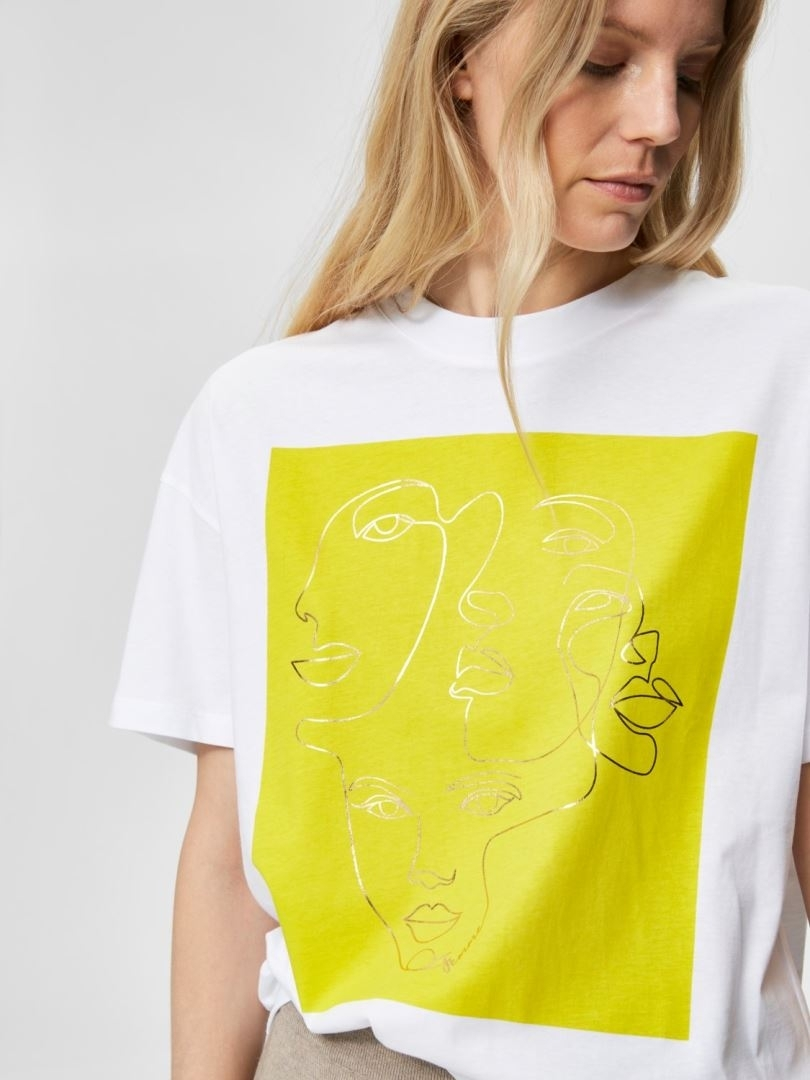Faces 2/4 printed tee