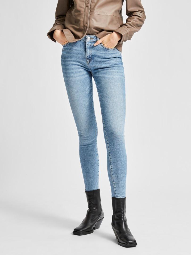 Sophia Mw Skinny Mid Blue Jeans