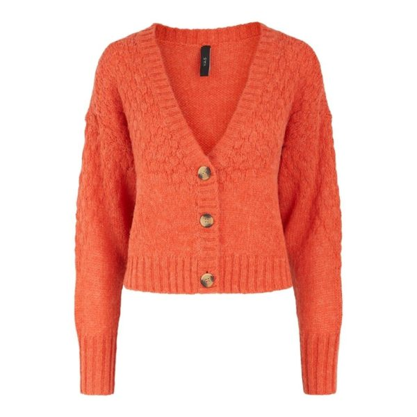 Yasorangina LS Cropped Knit Cardigan