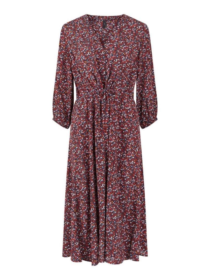 Yasvicky 3/4 V-neck Midi Dress