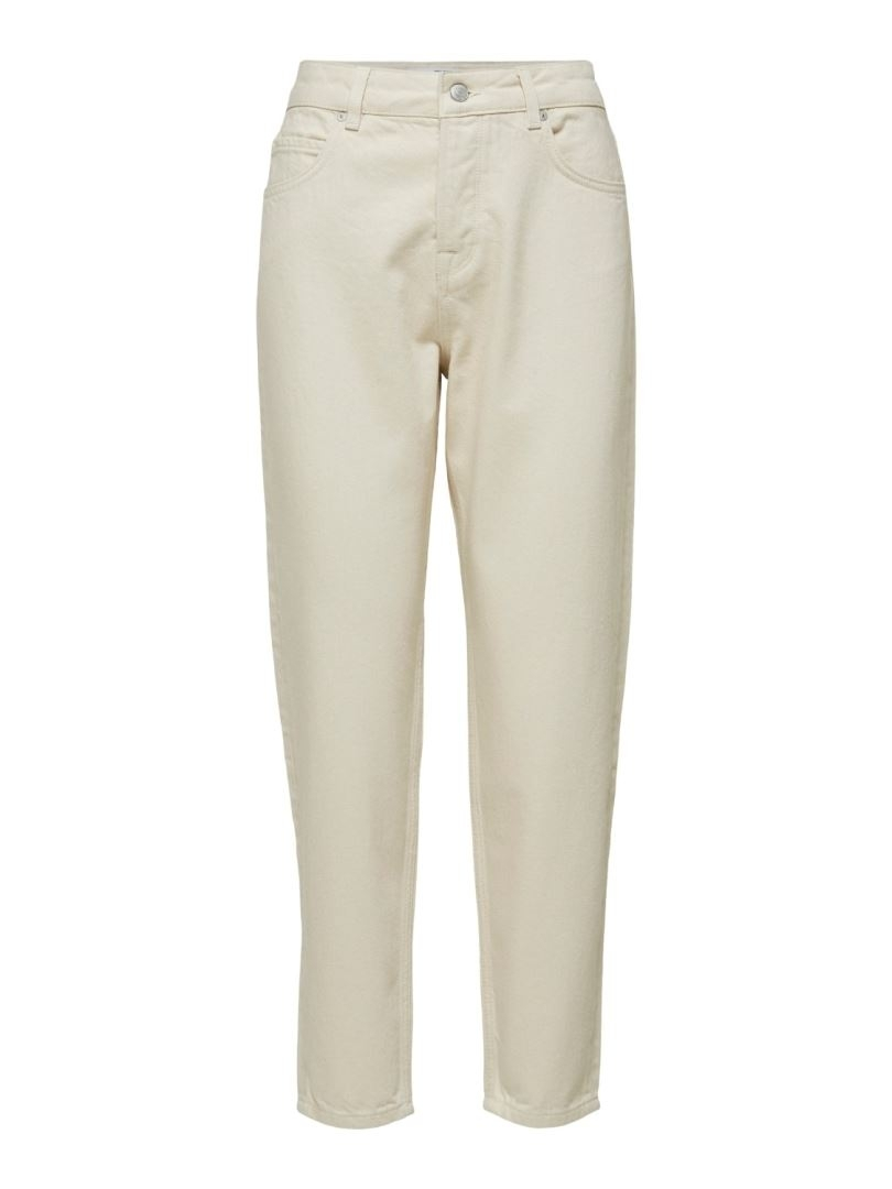 Frida HW Mom Creme White Jeans