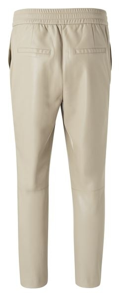 Faux leather relaxed trousers