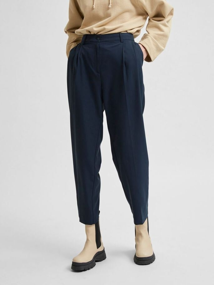 Blue MW Ankle Pant