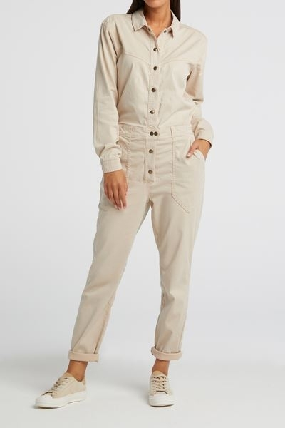 Woven Jumpsuit With Worker Pockets