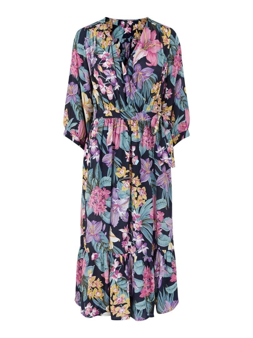 Yaslio 3/4 Midi Wrap Dress