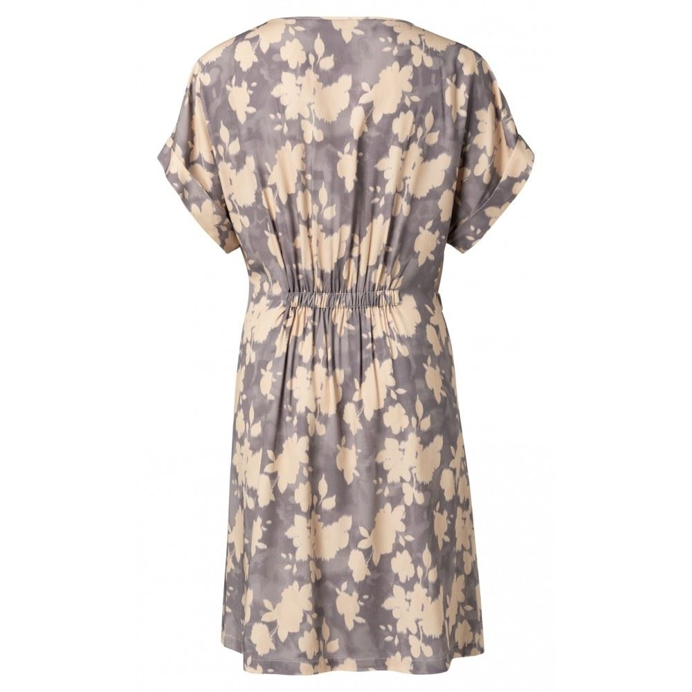 Woven Belted Dress With Floral Print