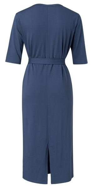 Jersey Belted Dress With Pockets