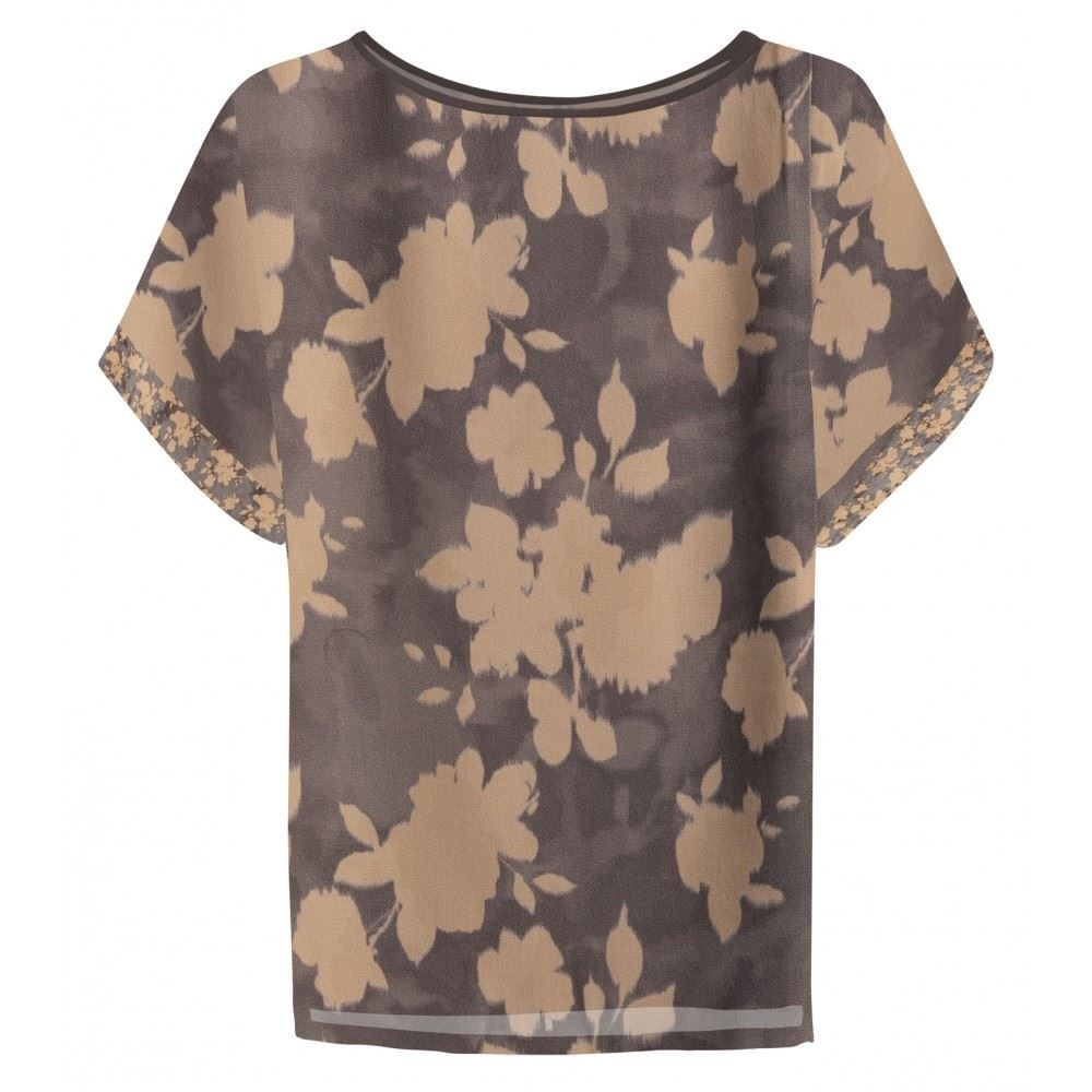Satin Top With Floral Print