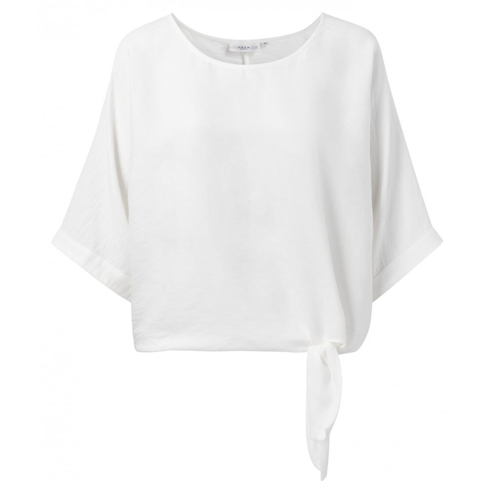 Oversized top with kimono sleeves and knotted detail
