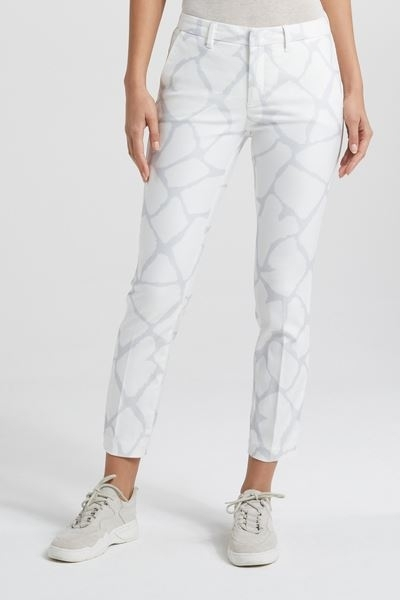 Slim Fit Trousers With Print