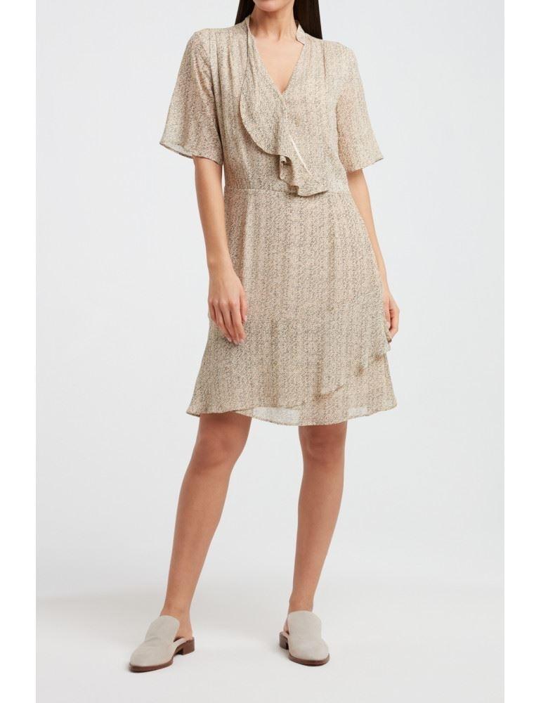 Printed Short Ruffle Dress