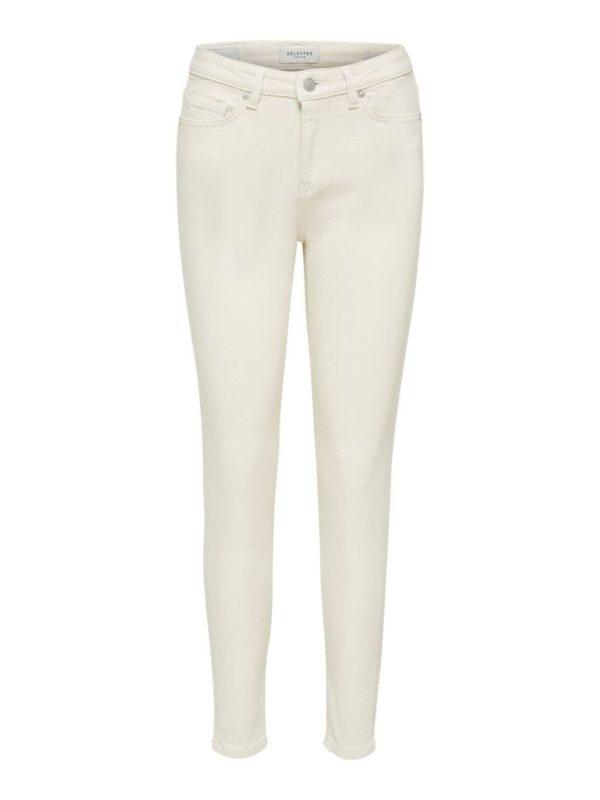Sophia MW Skinny Star White Jeans
