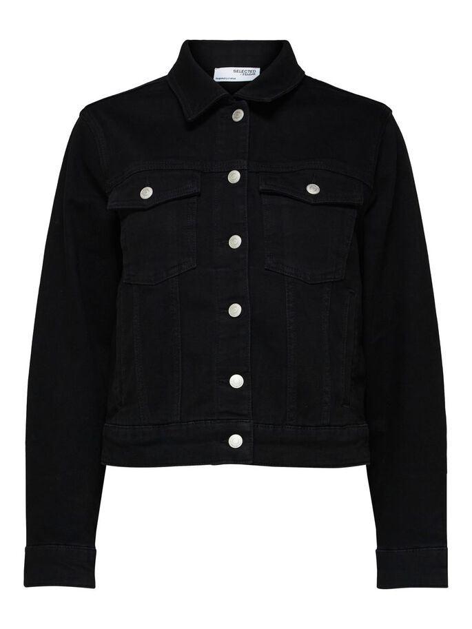Tenna LS Black Denim Jacket Curve