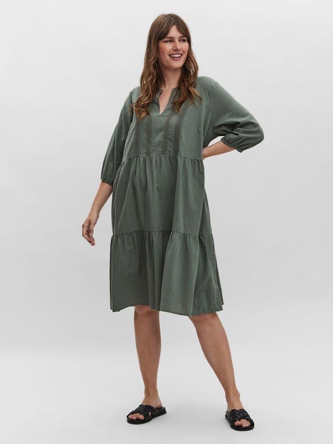 Mana 3/4 Above Knee Dress