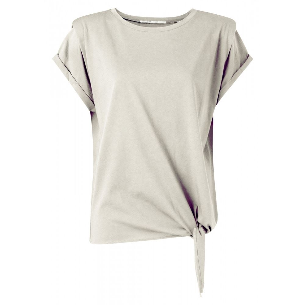 top with shoulder detail and knot