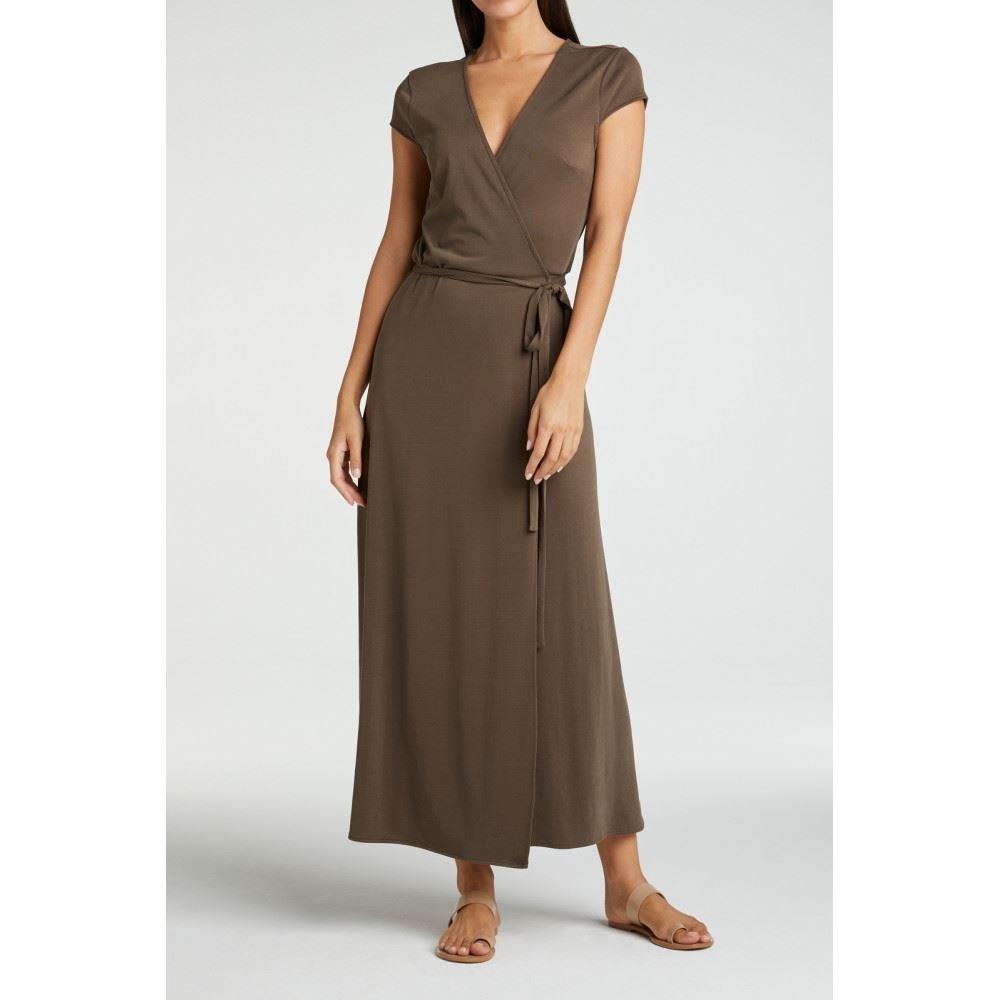 Long Jersey Wrap Dress