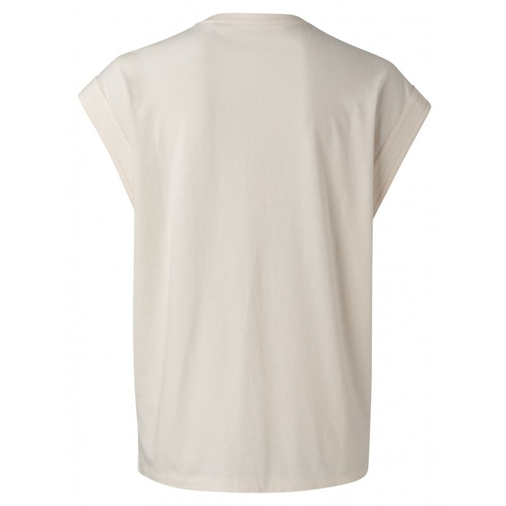 V neck top with stich details at sleeves