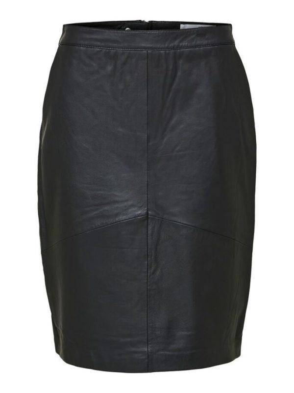 Sally HW Leather Skirt