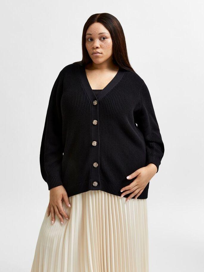 ammy ls knit button cardigan