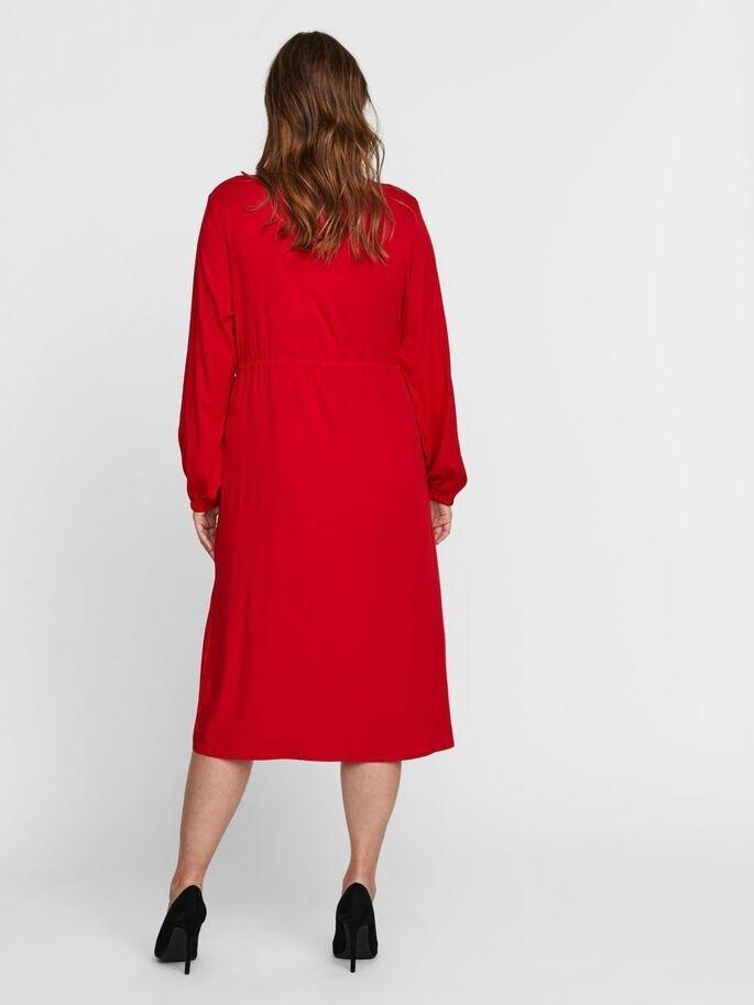 Rina ls midi shirt dress
