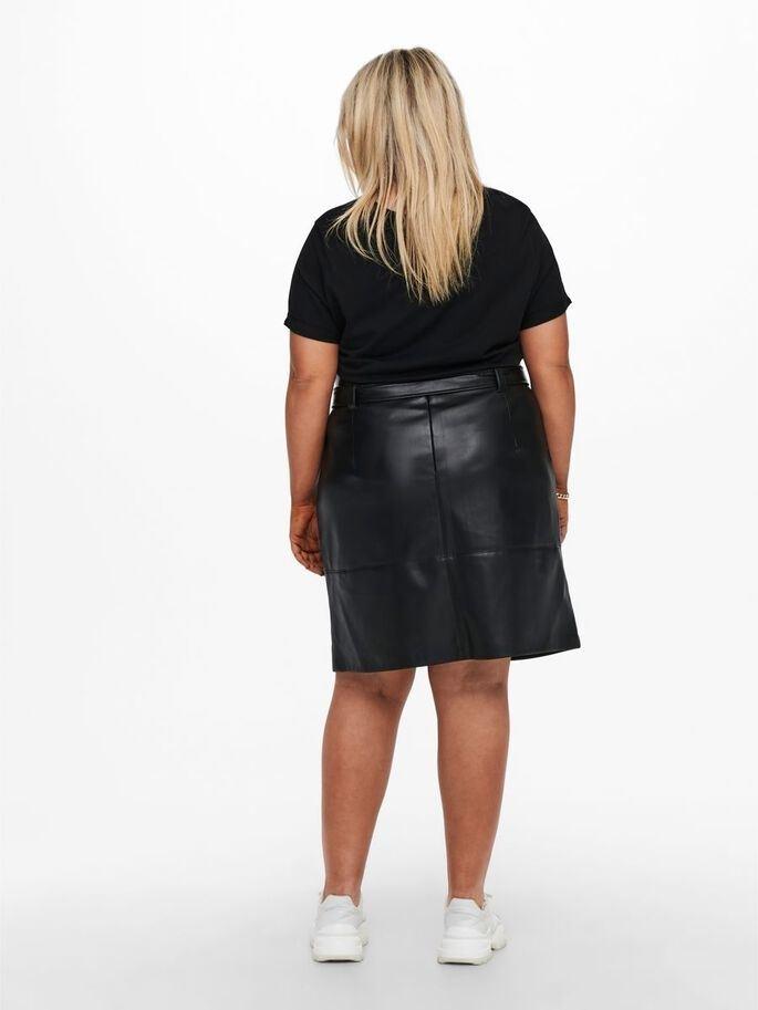 Sara Faux Leather Skirt