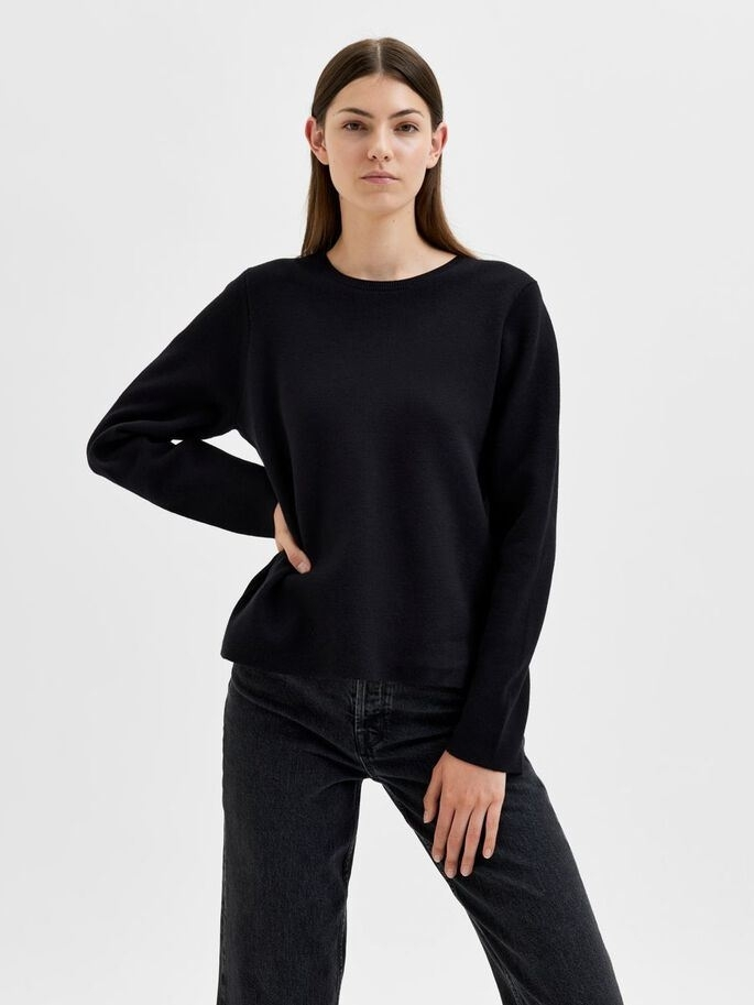 Merle LS Knit O-neck