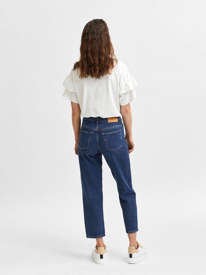 Lyda MW Cropped Inky Blue Jeans