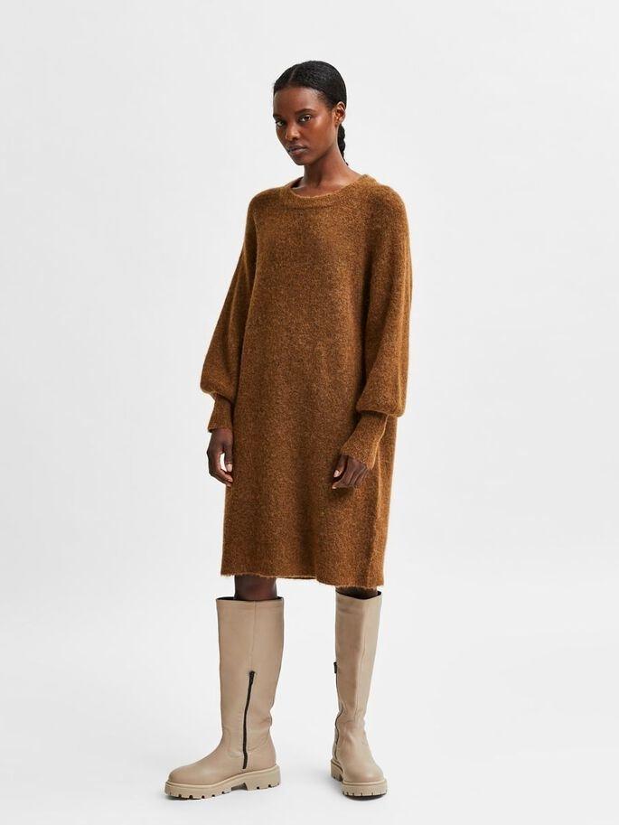 Lulu LS knit dress O-neck