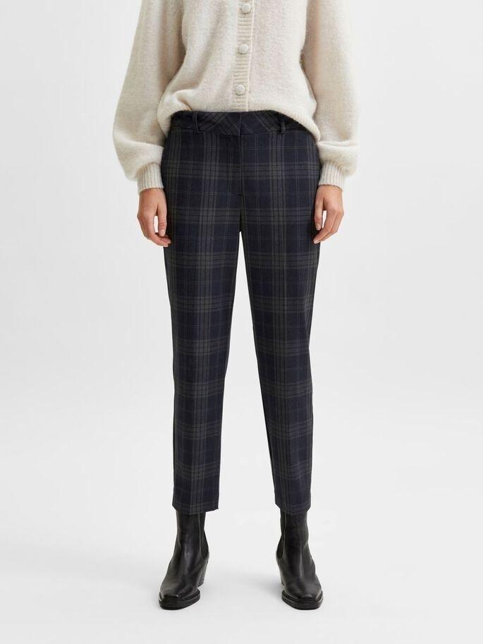 Ria MW Cropped Pant Check
