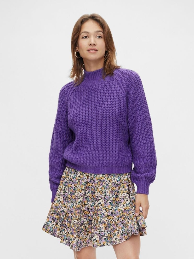 ultra high neck knit pull